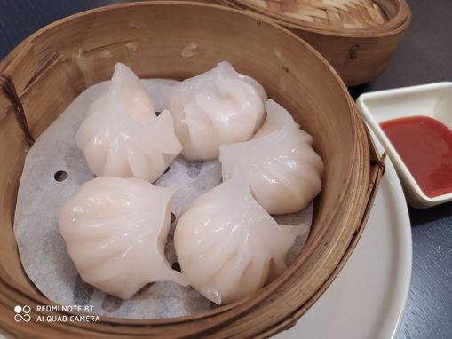 Image de S19 -Khanom Jeeb Kung  (Ravioli aux Crevettes Cuits à la Vapeur x5)